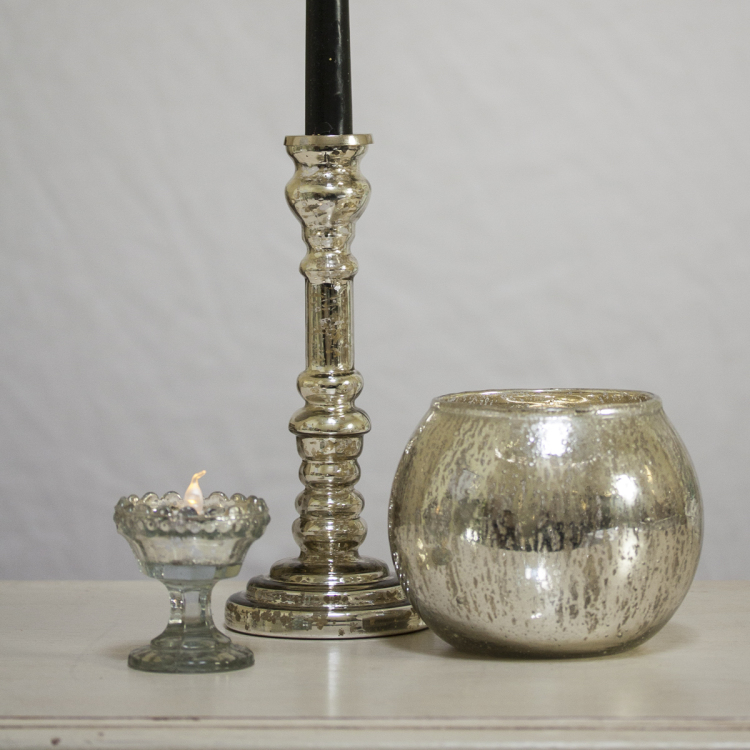 mercury glass candlestick - Style my day - Wedding and Event - Hire and styling