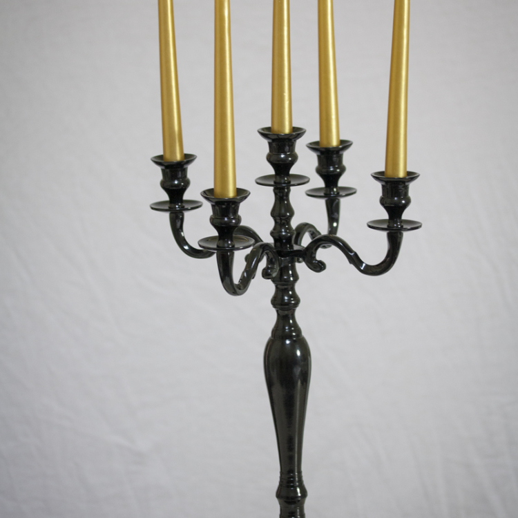 black five arm candelabra - Style my day - Wedding and Event - Hire and styling