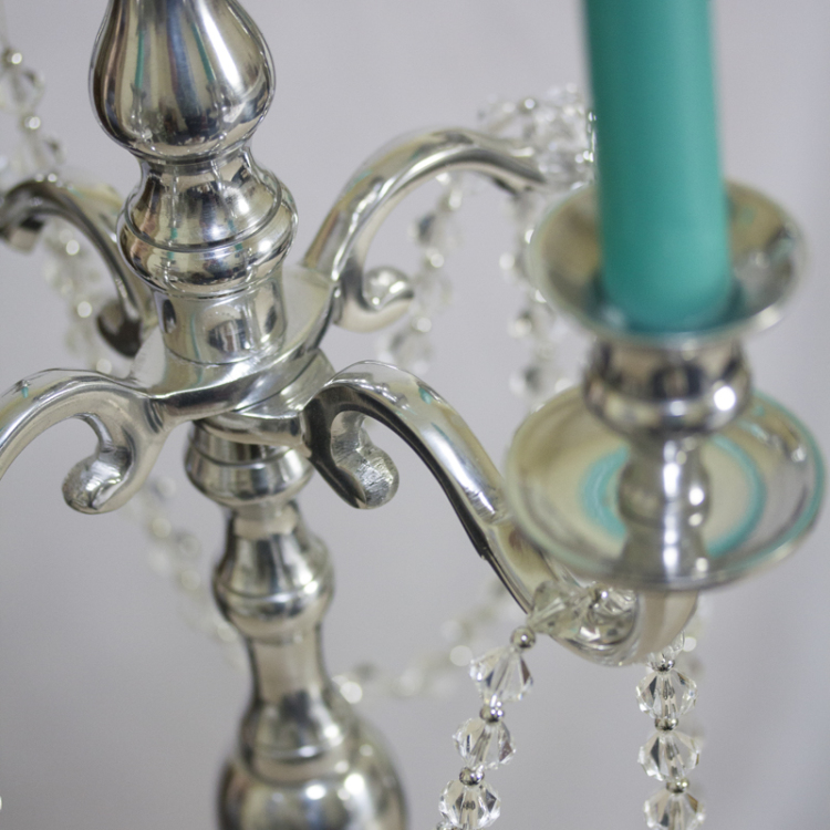 silver five arm candelabra - Style my day - Wedding and Event - Hire and styling