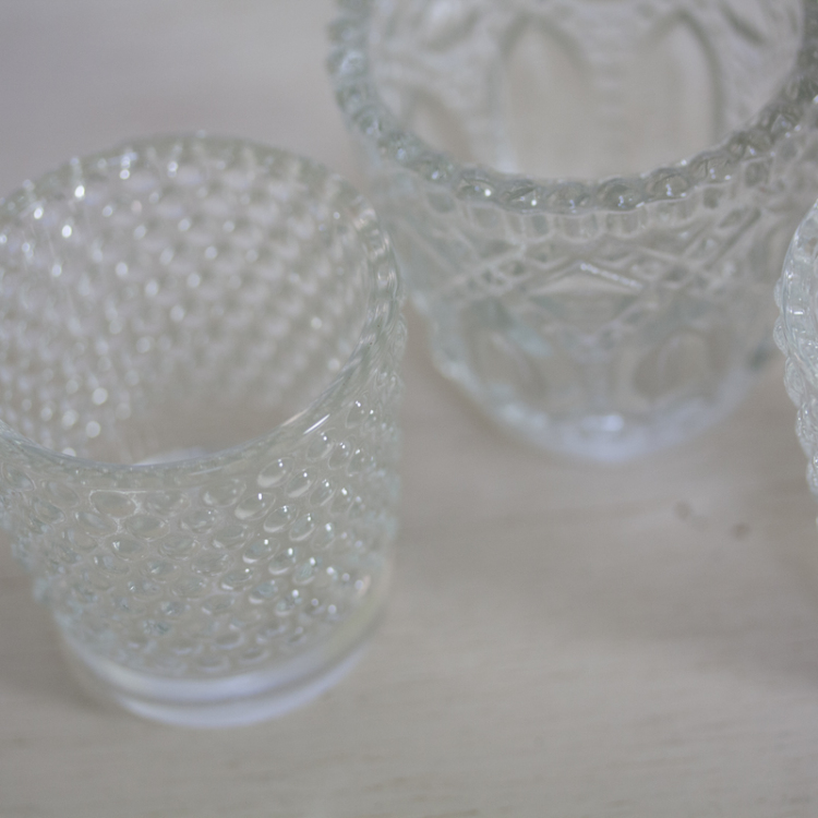 clear glass tea lights - Style my day - Wedding and Event - Hire and styling