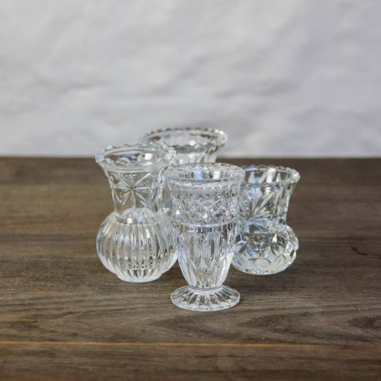 Cut glass vases - Hire Style my day