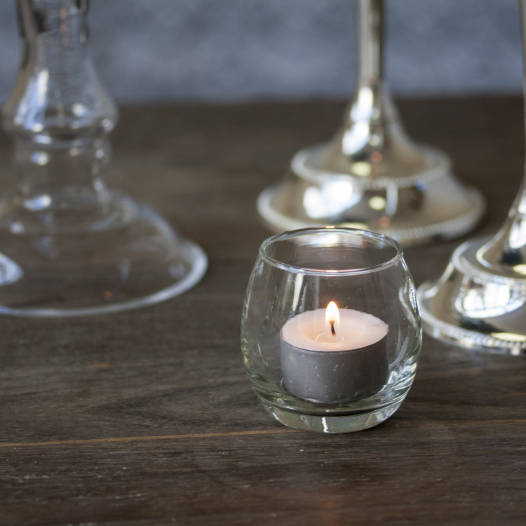 glass tea light Hire from Style my Day