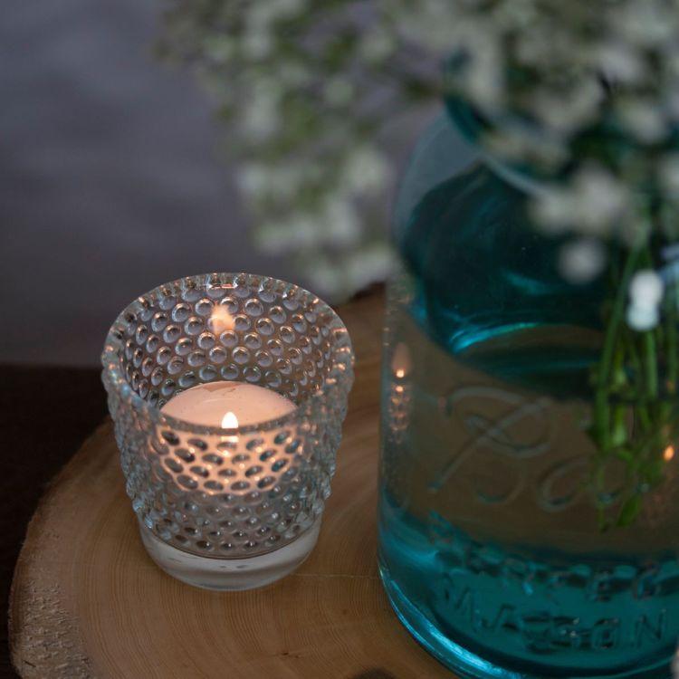 glass tea light bubble