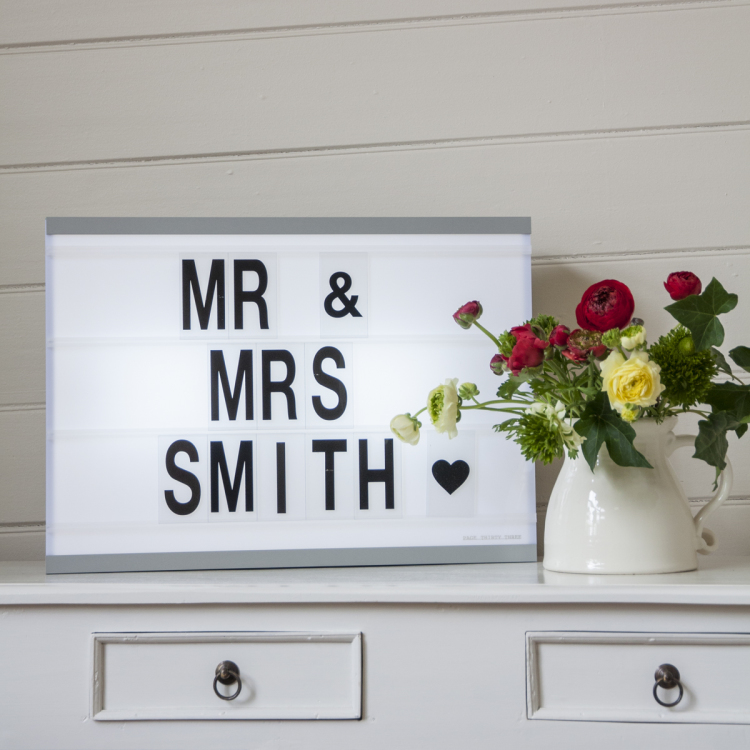 cinematic light box - Style my day - Wedding and Event - Hire and styling