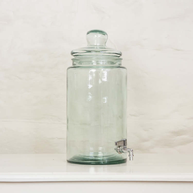 recycled glass drinks dispenser - Style my day - Wedding and Event - Hire and styling