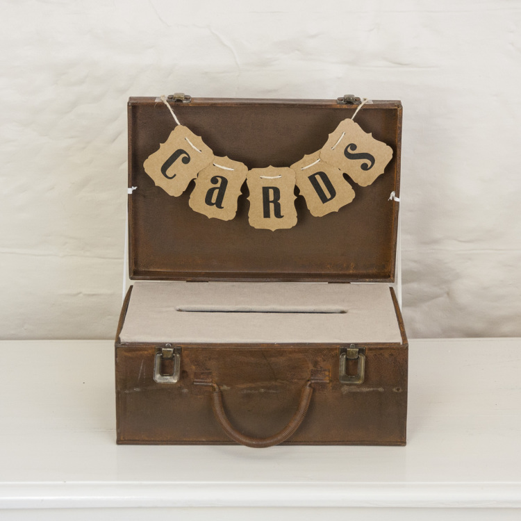 cards suitcase - Style my day - Wedding and Event - Hire and styling