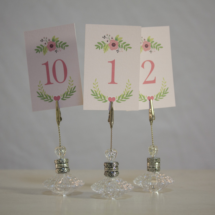 crystal table number holder - Style my day - Wedding and Event - Hire and styling hires