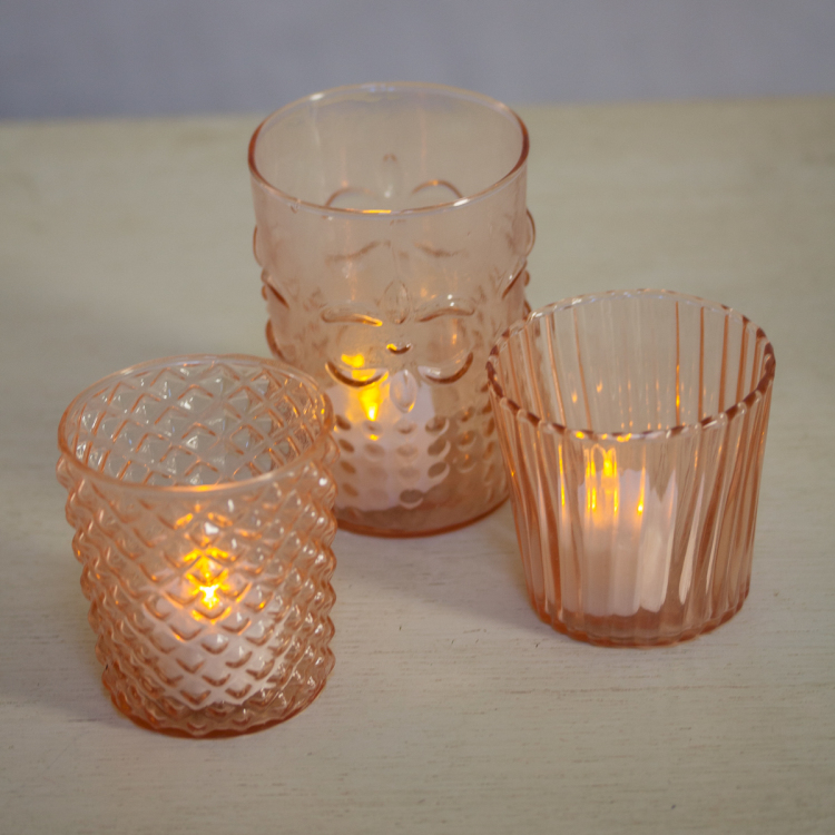 vintage Pink Tealights - Style my day - Wedding and Event - Hire and styling