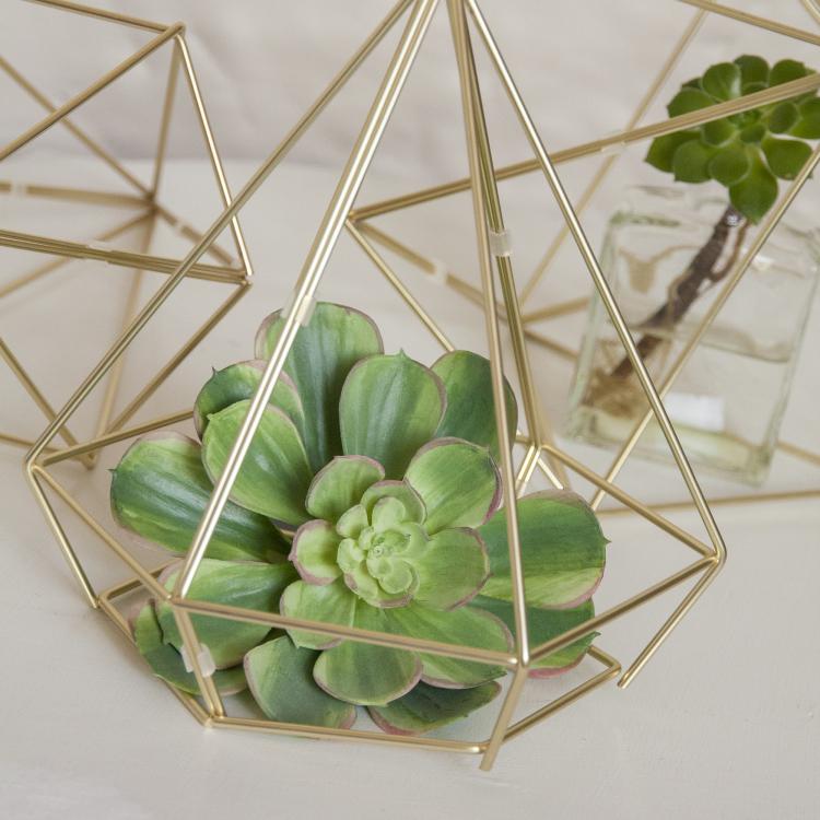 Style my day - geometric prisms - modern - glittering gold