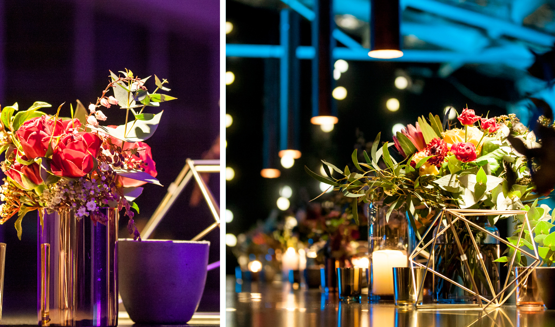Style my day Shambles Brewery Geometric modern wedding reception