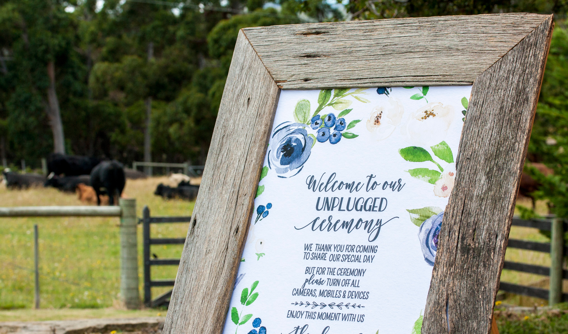 Signage _Port Arthur _ The Old Farm _ Wedding Styling
