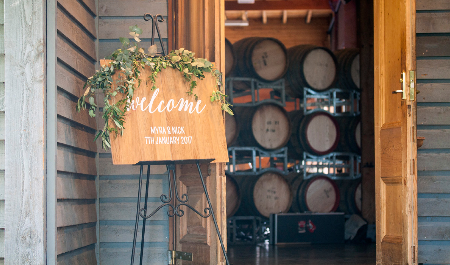 Welcome Sign _ Winery_ Myra and Nick_ Wedding styling _ Style my day