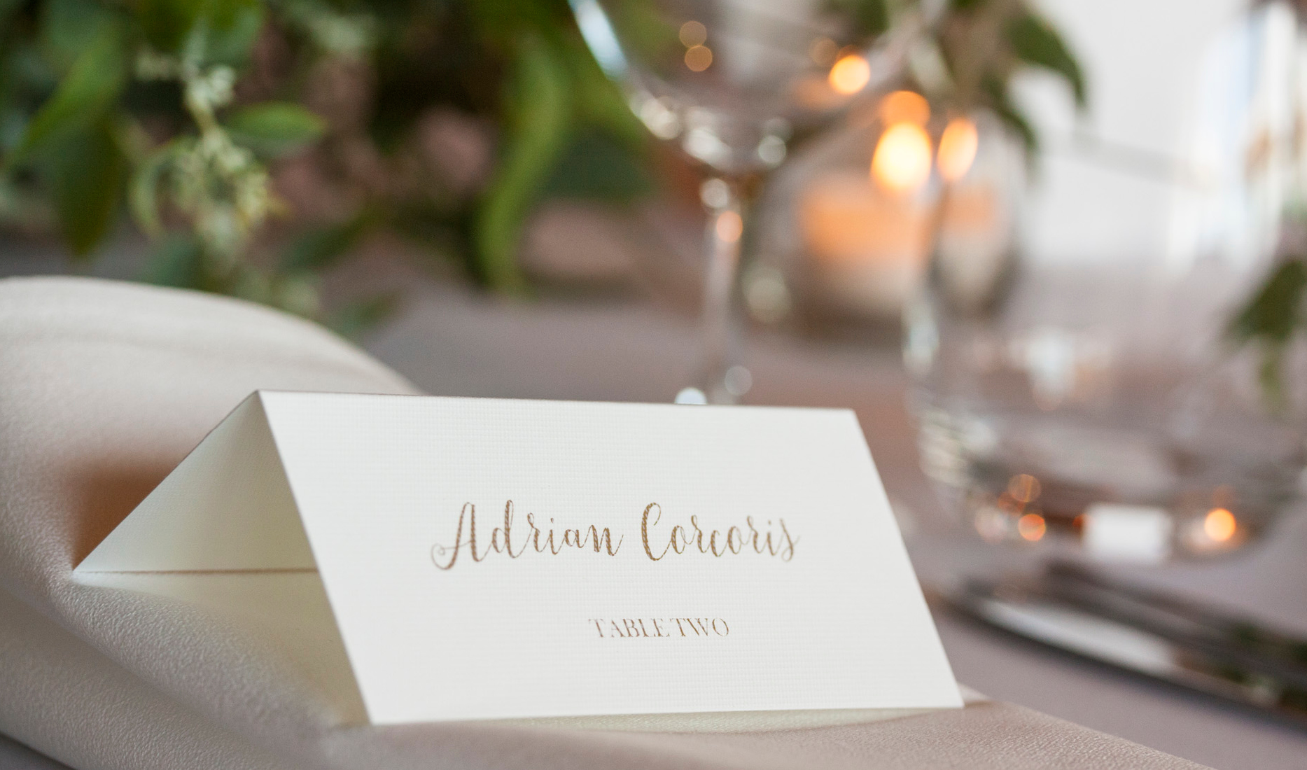Place cards - Myra and Nick_ Wedding styling _ Style my day
